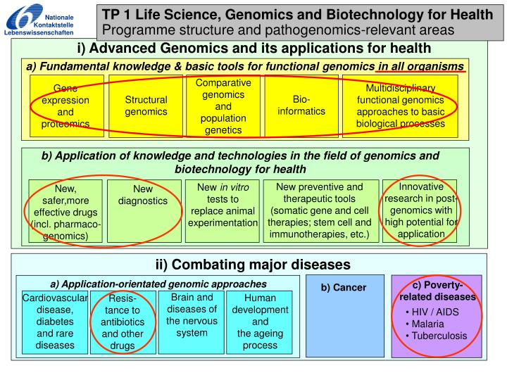 a) Application-orientated genomic approaches