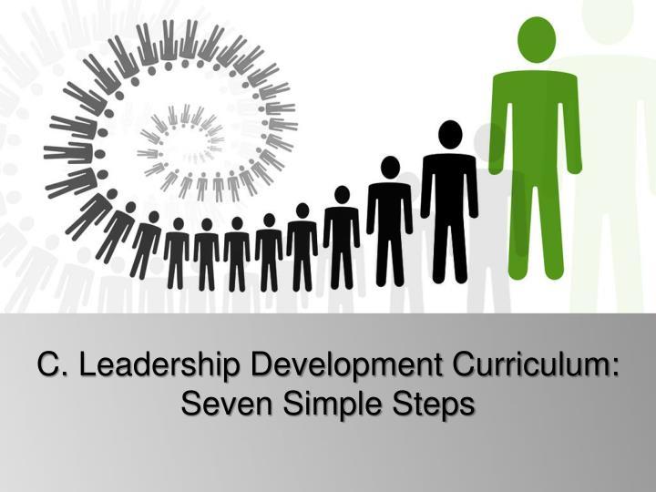 C. Leadership Development Curriculum: Seven Simple Steps