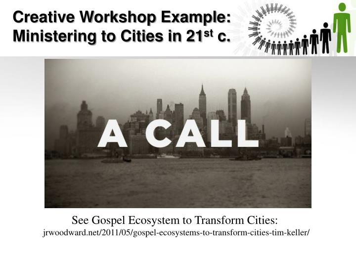 Creative Workshop Example: Ministering to Cities in 21