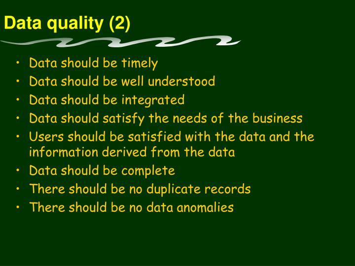 Data quality (2)