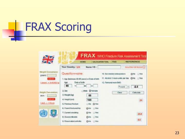 FRAX Scoring