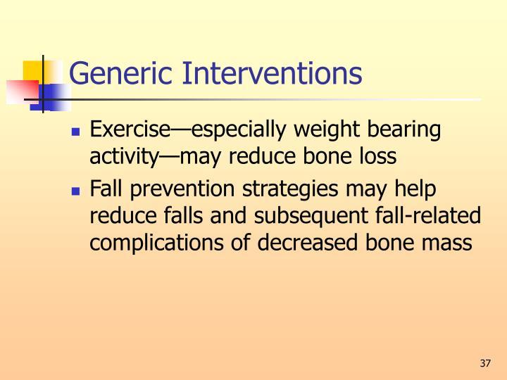Generic Interventions