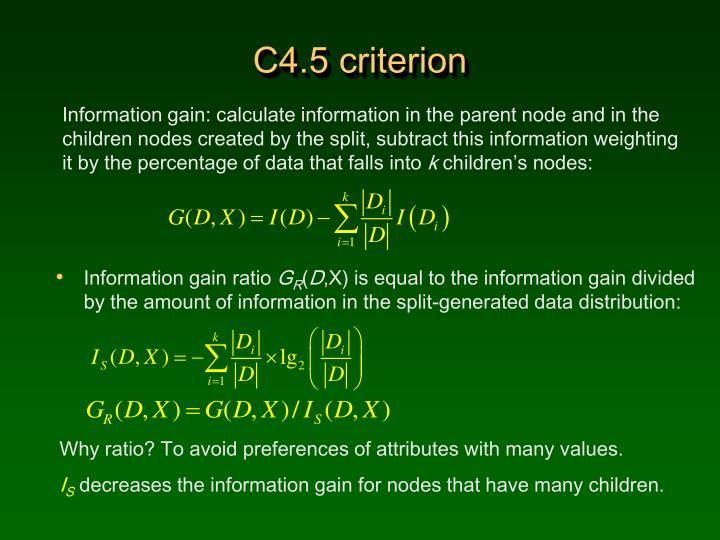 C4.5 criterion