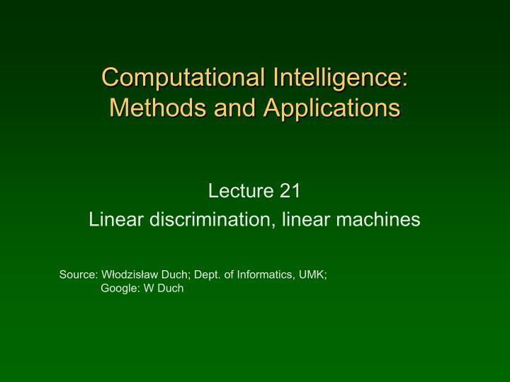 Computational Intelligence:
