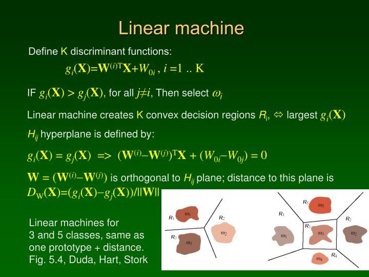 Linear machine