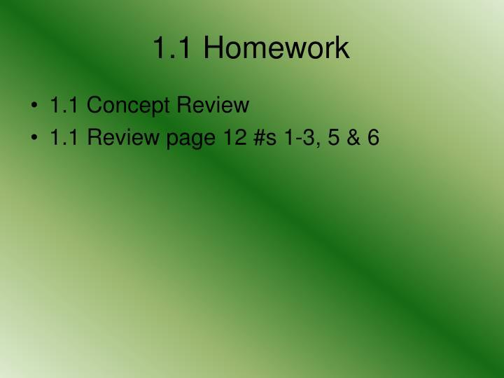 1.1 Homework