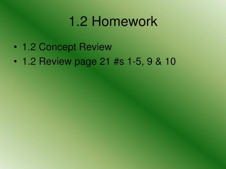 1.2 Homework
