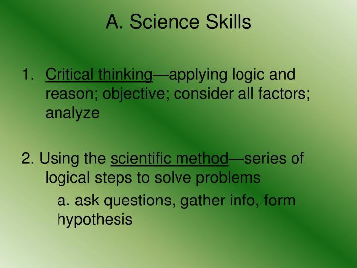A. Science Skills