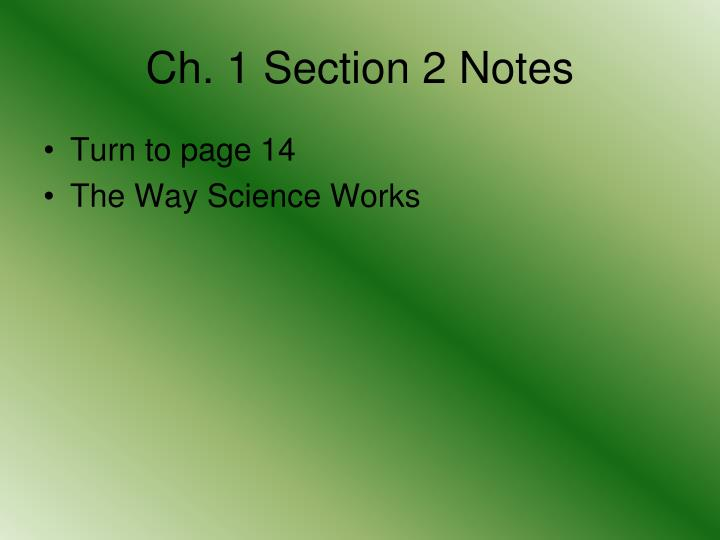 Ch. 1 Section 2 Notes