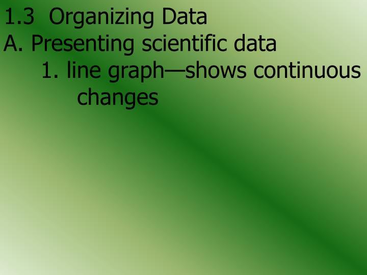 1.3  Organizing Data