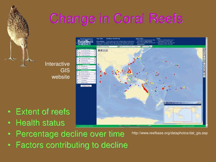 Change in Coral Reefs
