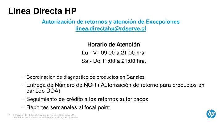 Linea Directa HP