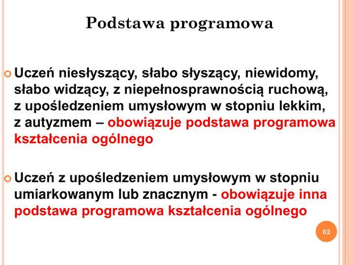 Podstawa programowa
