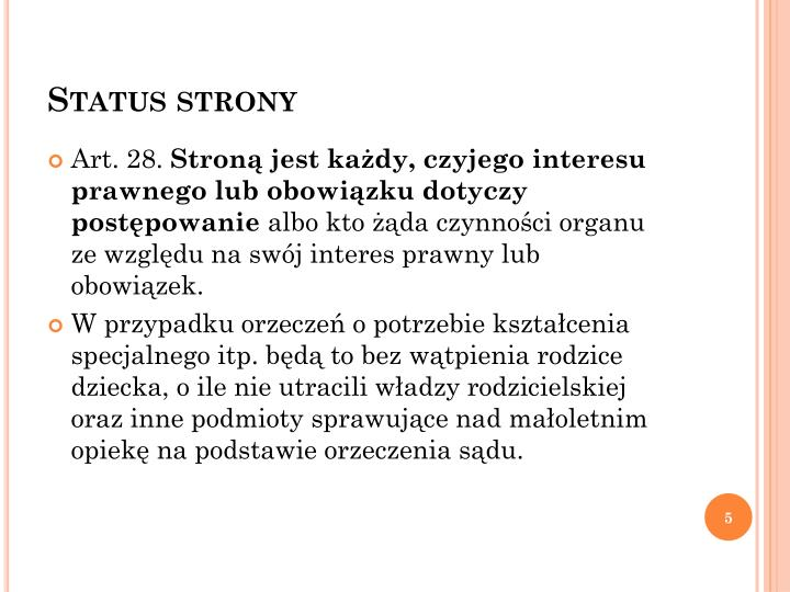 Status strony