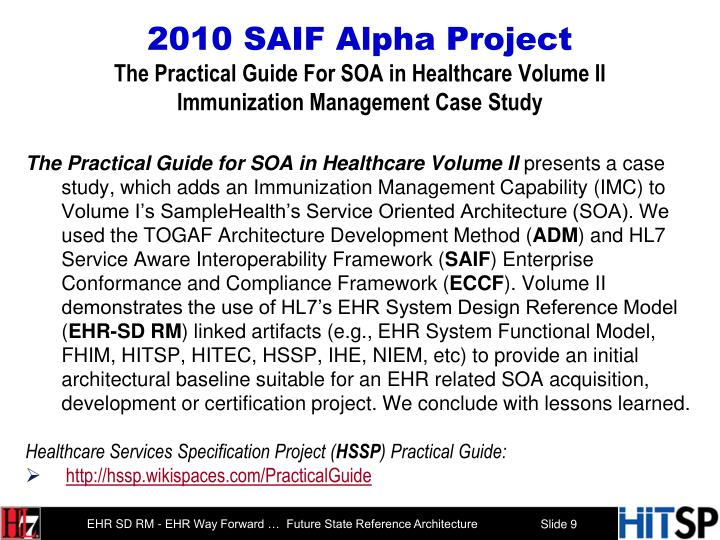 2010 SAIF Alpha Project