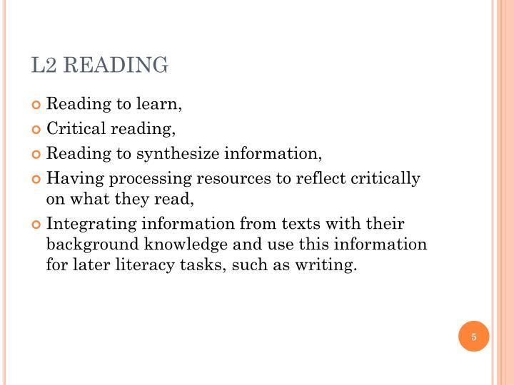 L2 READING