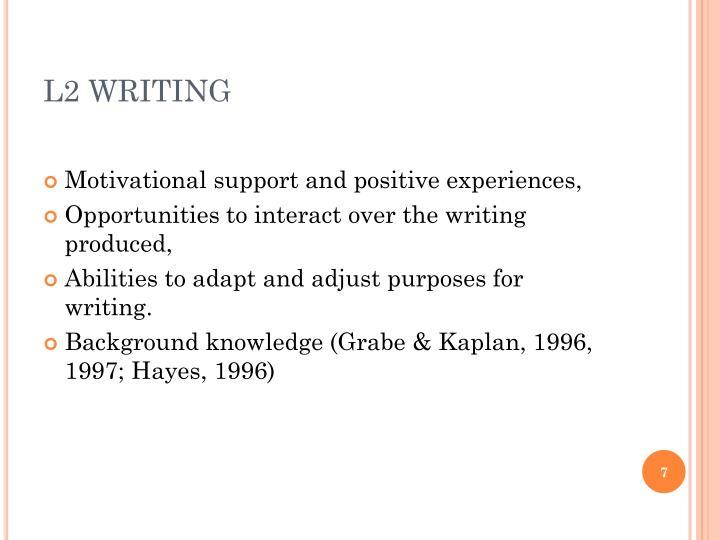 L2 WRITING