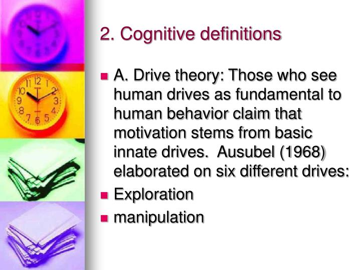 2. Cognitive definitions