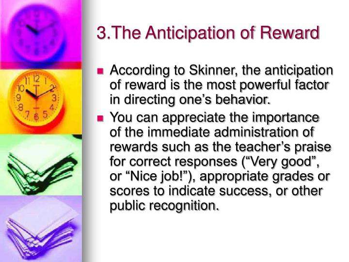 3.The Anticipation of Reward