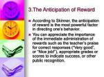 3 the anticipation of reward