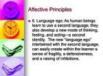 affective principles