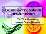 english teaching materials and methodology