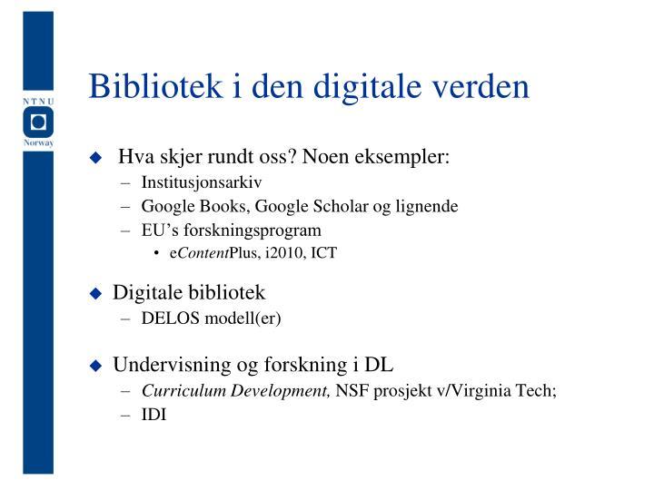 Bibliotek i den digitale verden