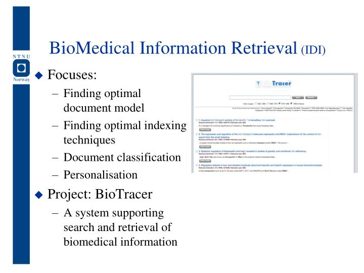 BioMedical Information Retrieval