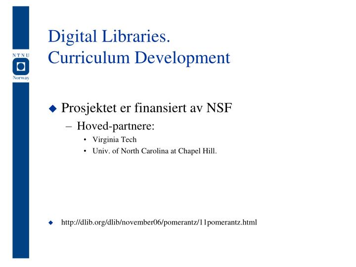 Digital Libraries.