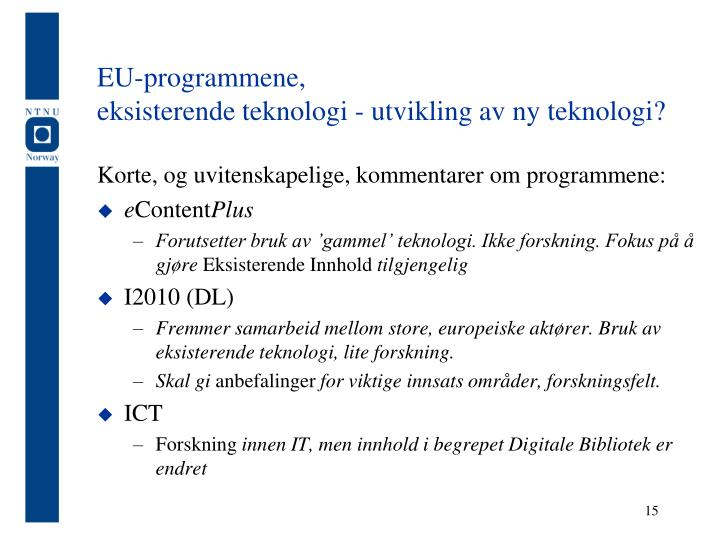 EU-programmene,
