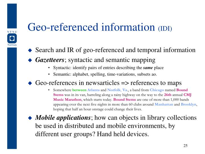 Geo-referenced information