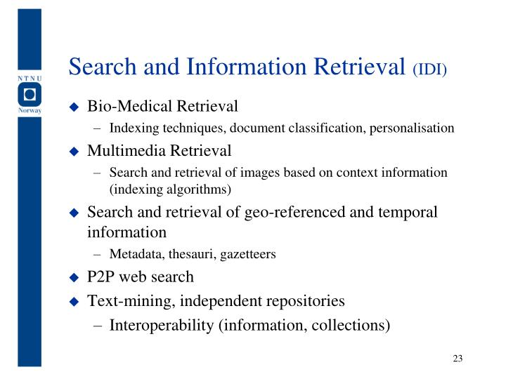 Search and Information Retrieval