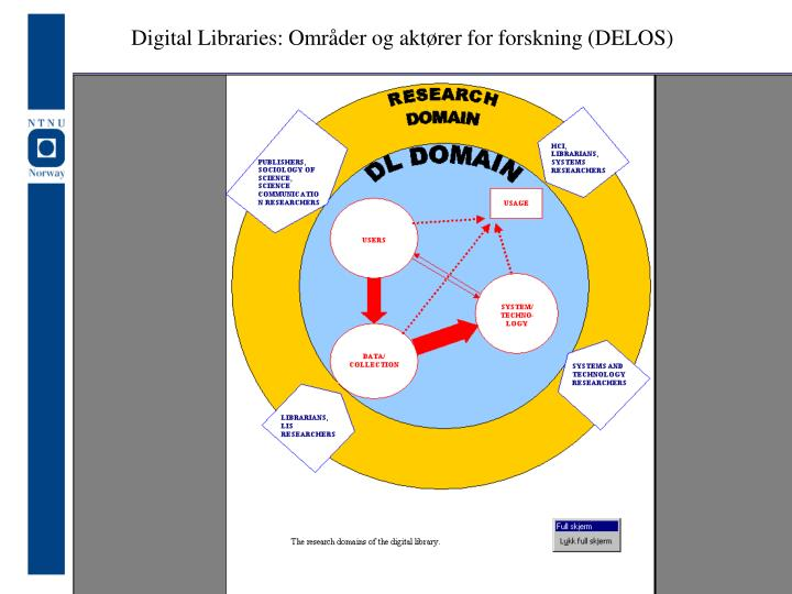 Digital Libraries: Områder og aktører for forskning (DELOS)