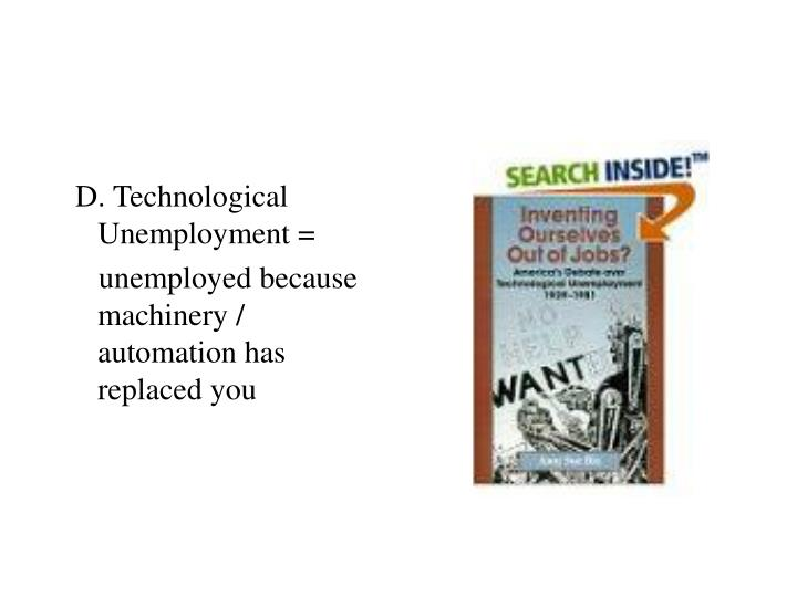 D. Technological Unemployment =