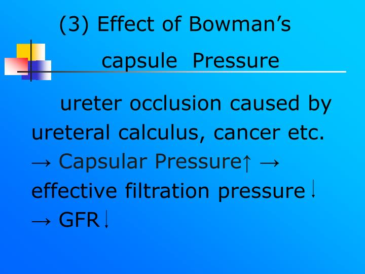ureter occlusion caused by