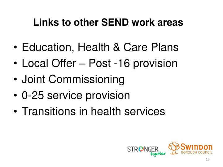 Links to other SEND work areas