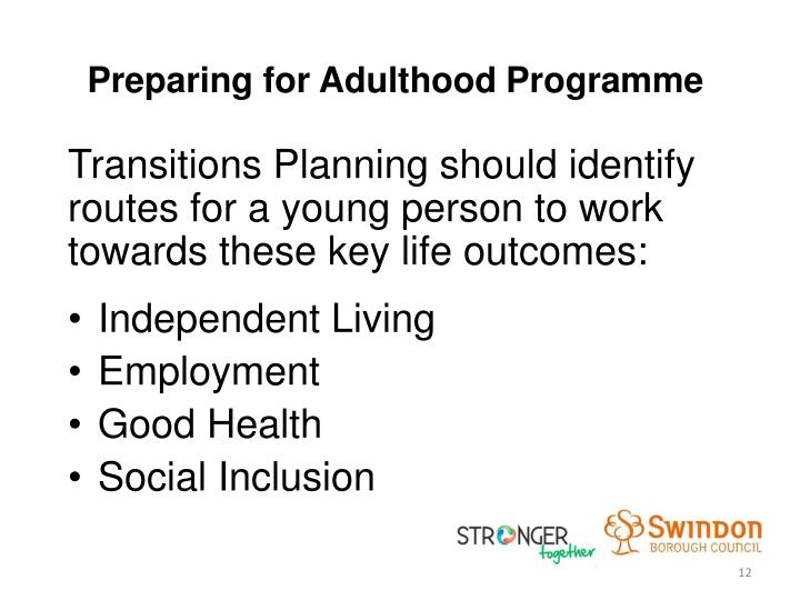 Preparing for Adulthood Programme