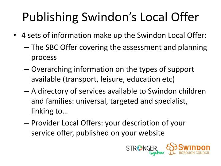 Publishing Swindon's Local Offer