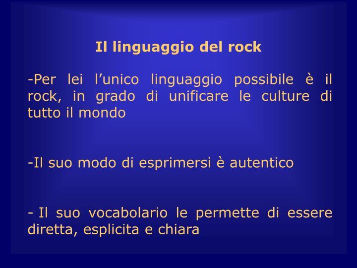Il linguaggio del rock