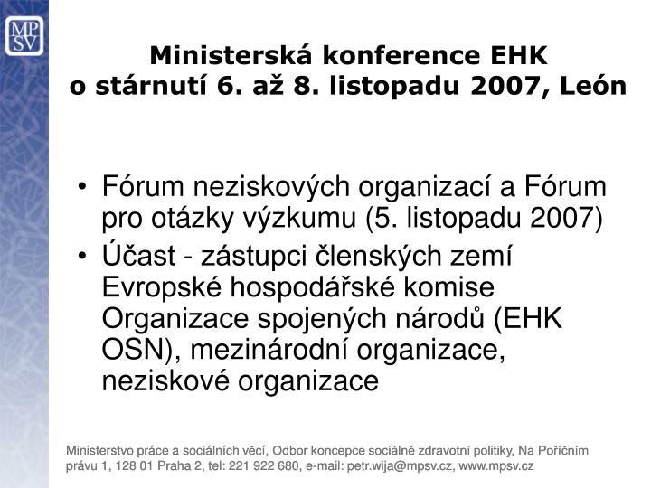 Ministerská konference EHK