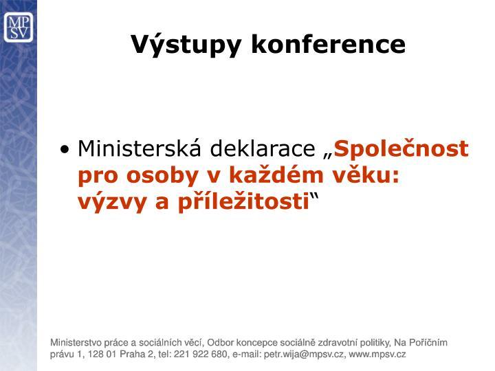 Výstupy konference