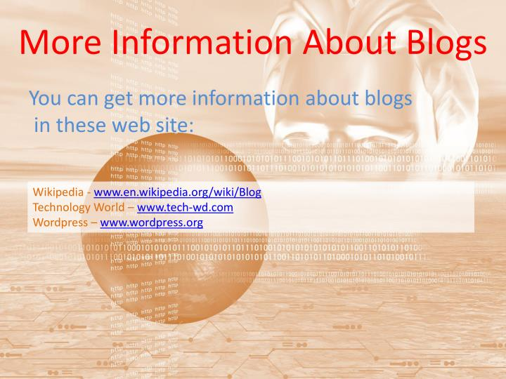 More Information About Blogs
