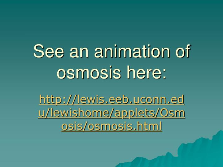 See an animation of osmosis here: