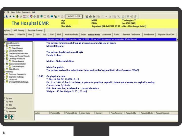 The Hospital EMR