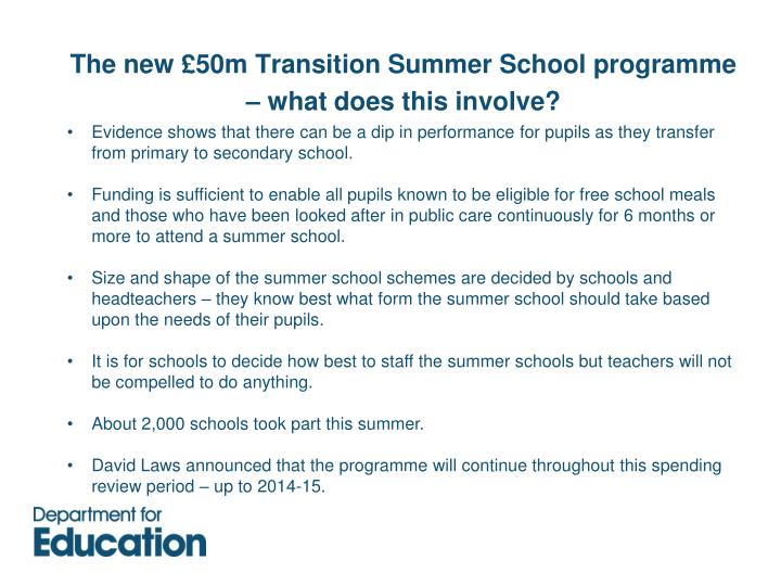 Evidence shows that there can be a dip in performance for pupils as they transfer from primary to secondary school.