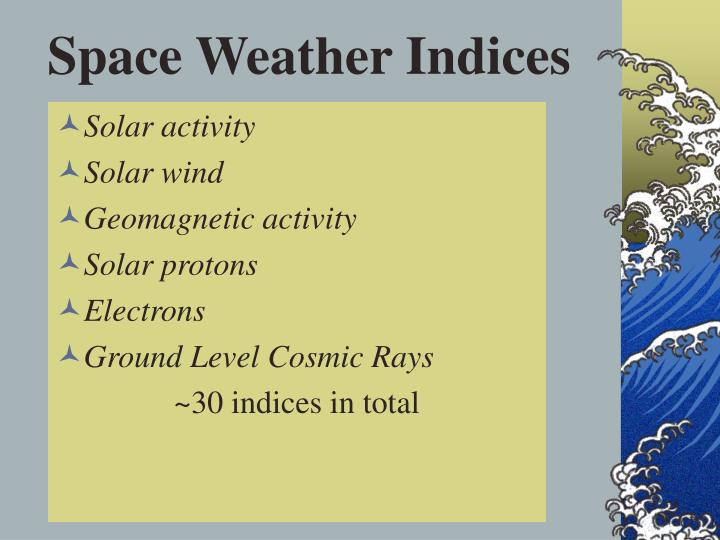 Space Weather Indices
