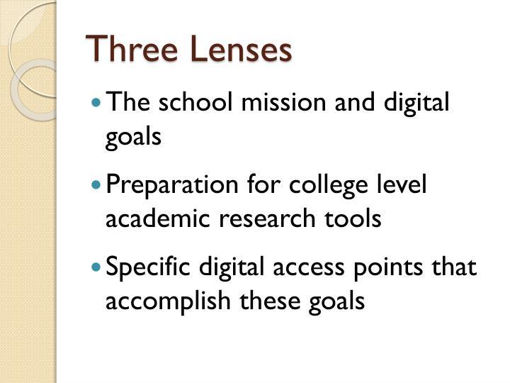 Three Lenses