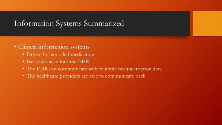Information Systems Summarized