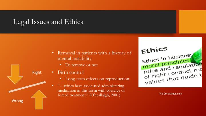 Legal Issues and Ethics