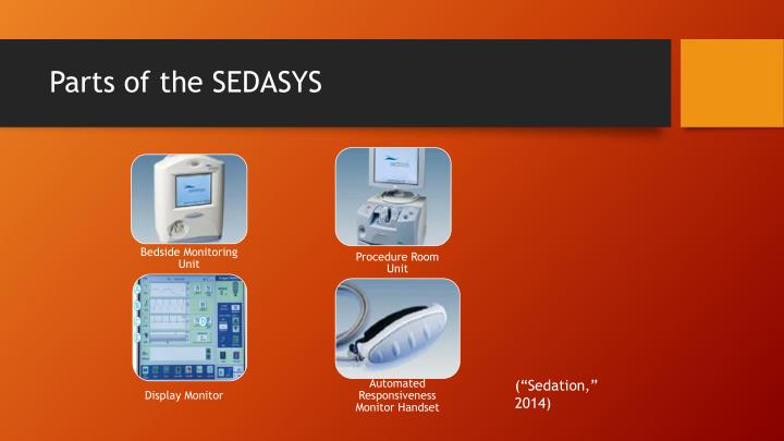 Parts of the SEDASYS